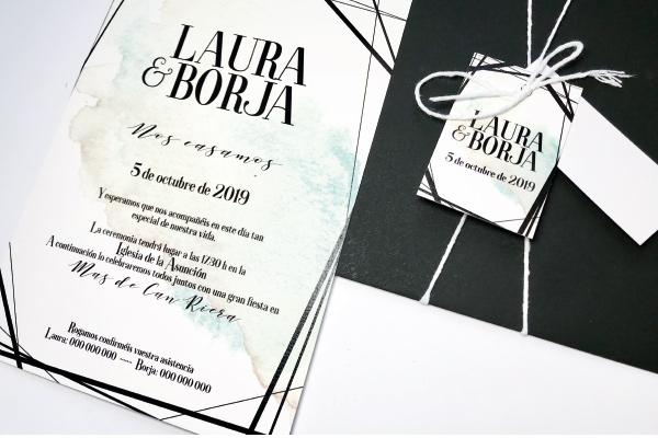 invitacion de boda elegante y sencilla