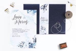 invitacion de boda en la playa azul