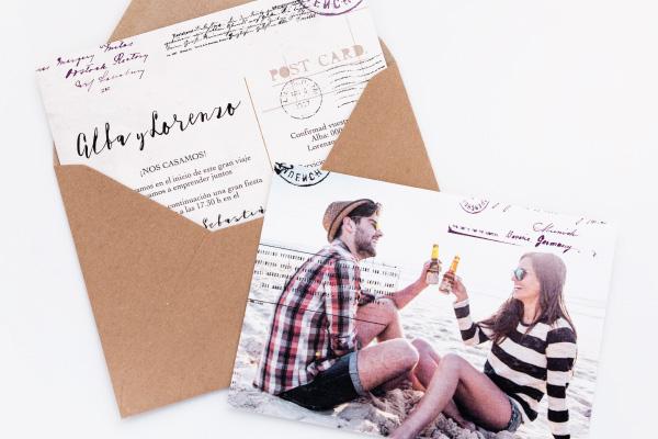 invitacion-de-boda-estilo-postal-vintage