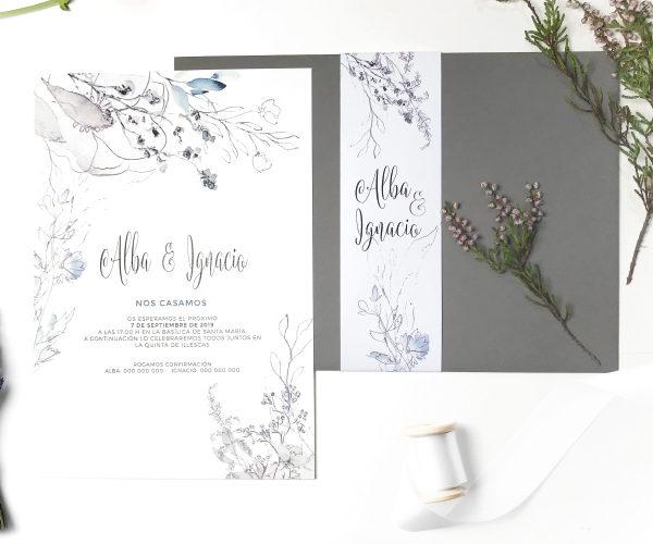 invitacion de boda personalizada clasica
