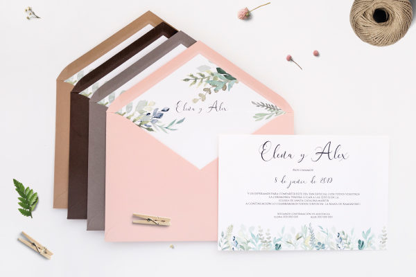 invitaciones de boda romanticas vintage