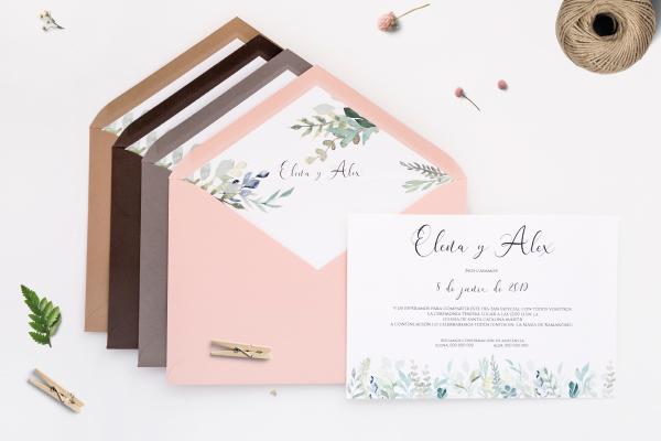 invitacion de boda romantica vintage