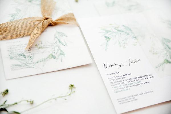 invitacion de boda olivo original