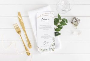 menu boda estilo campestre
