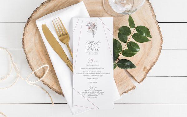 menu boda original
