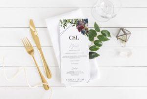 menu boda personalizado