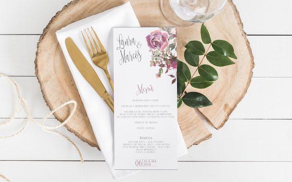 menu para boda original