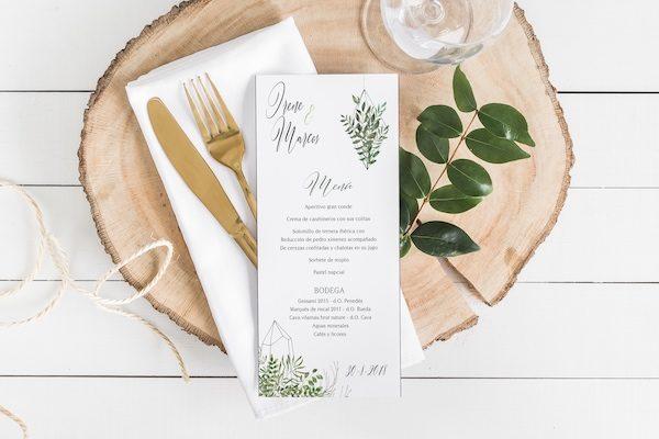 menus de boda originales