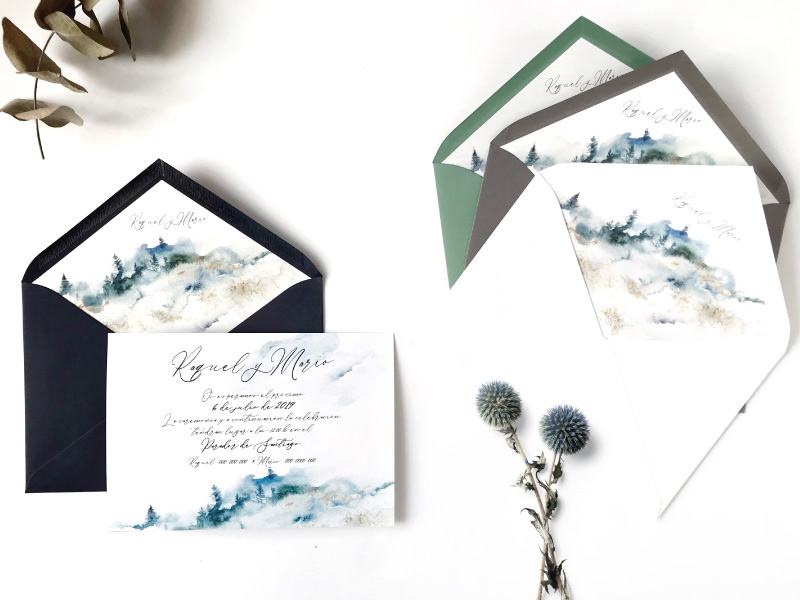 invitaciones de boda originales invierno