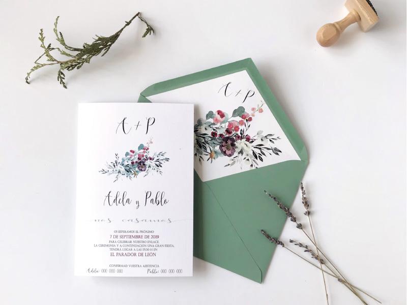 invitaciones-sobre-verde-elegante