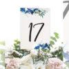numeros de mesa boda en el mar