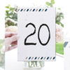 numeros de mesa boda tema viaje