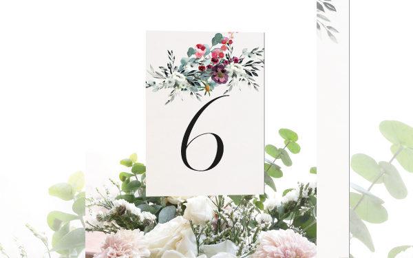 numeros de mesa para boda campestre
