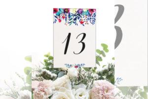 Numeros de mesa para boda originales barcelona