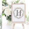 Numeros de mesa para boda rustica