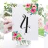 numeros de mesa para bodas flores