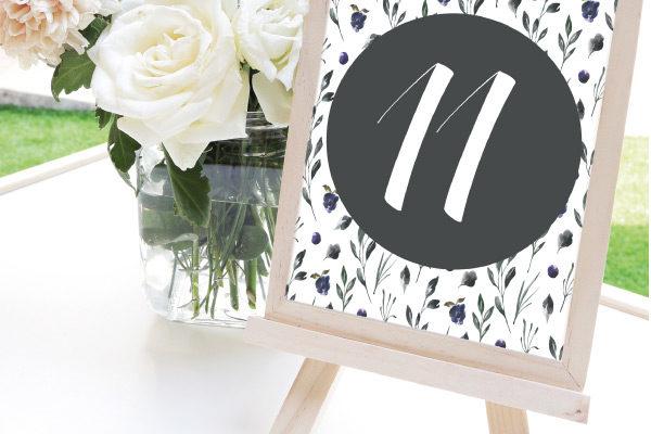 Numeros de mesa para bodas romanticos