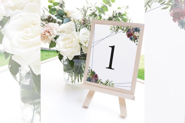 numeros de mesa para bodas