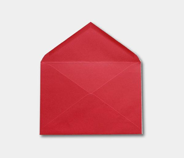 sobre rojo elegante para invitacion de boda