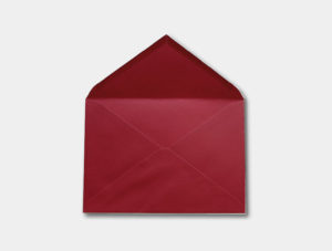Sobre para invitacion color rojo