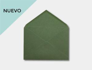 Sobre verde oliva para invitacion de boda