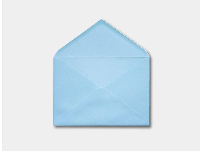 Sobre de invitacion azul claro