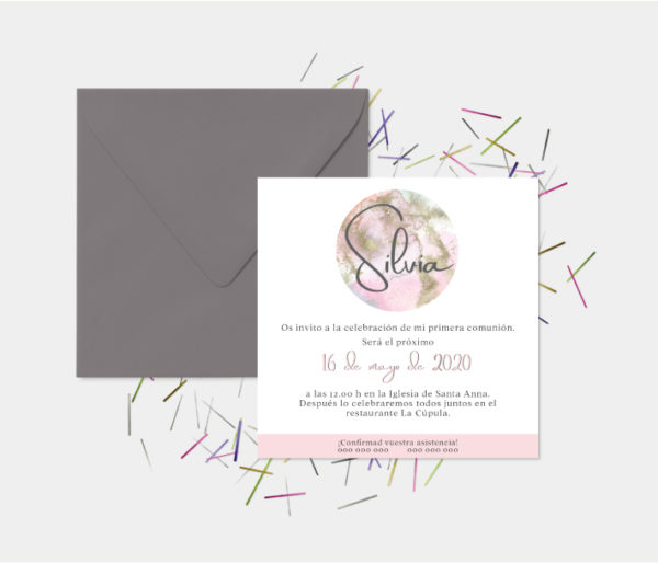 invitaciones de primera comunion niña