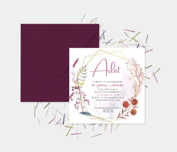 tarjetas invitacion comunion niña originales