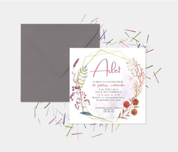 tarjetas invitacion comunion niña