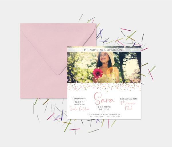 invitacion de primera comunion barcelona con foto
