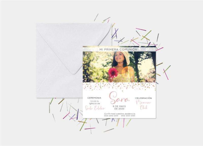 invitacion primera comunion con foto madrid