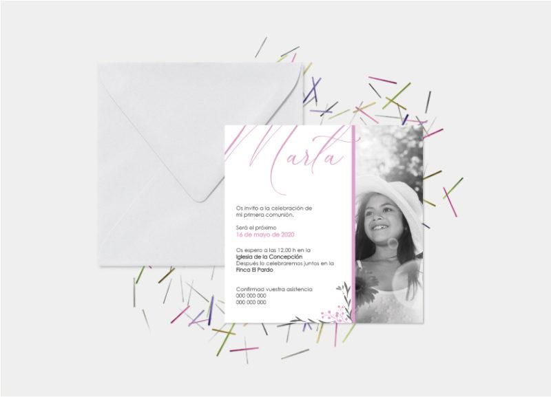 invitaciones de primera comunion niña valencia