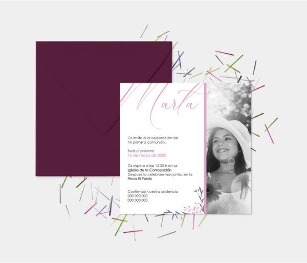 invitacion para comunion niña zaragoza
