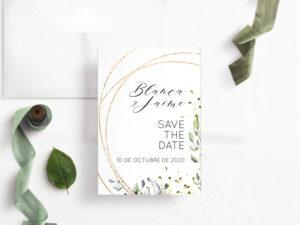 save the date digital elegante