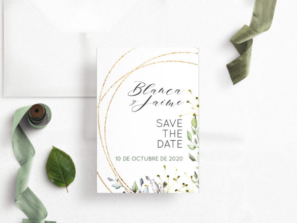 save the date digital elegante