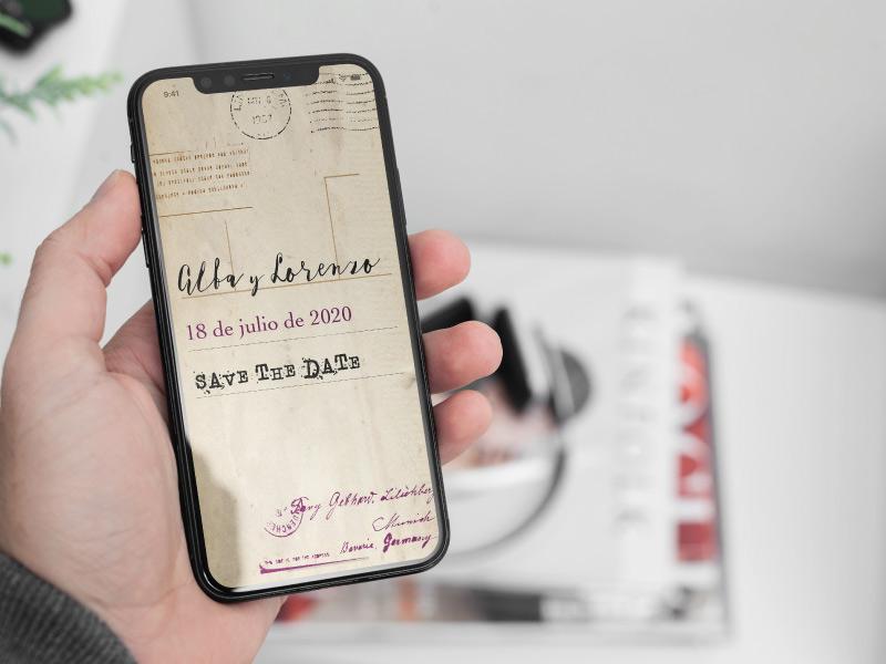 save the date digital viaje