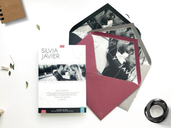 invitaciones de boda con fotos de novios