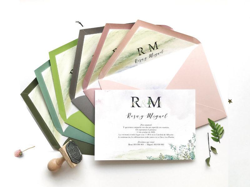 invitacion de boda horizontal
