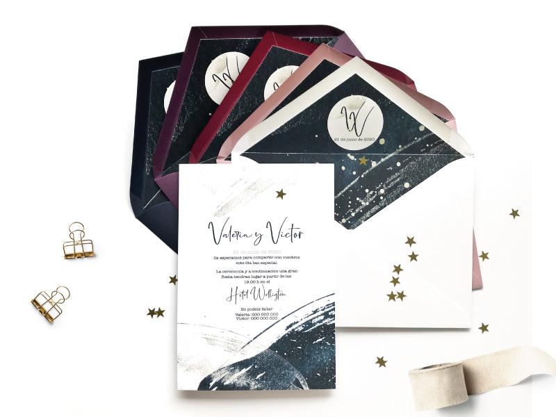 invitaciones de boda caligraficas