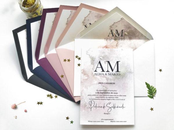 invitaciones de boda modernas y elegantes