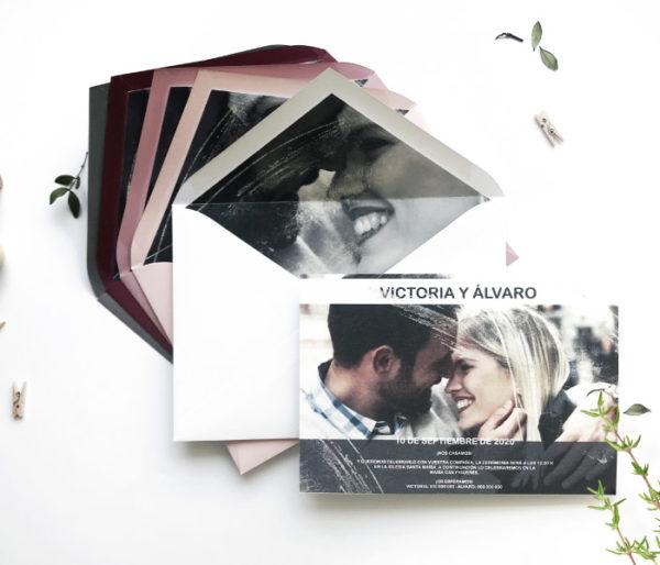 invitacion de boda con foto