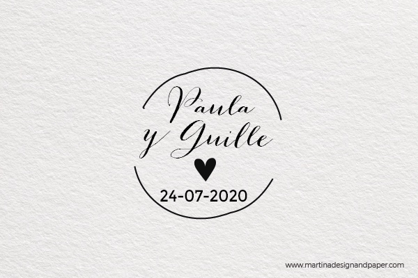 sello para la invitacion de boda