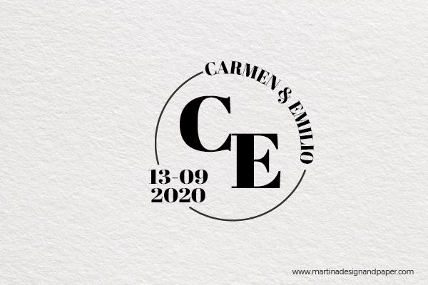 sello personalizado invitacion boda