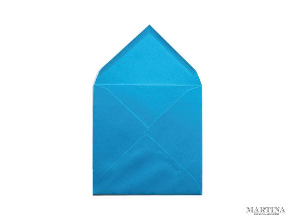 Sobre cuadrado para invitaciones de boda azul cielo