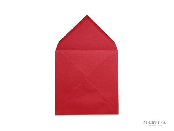Sobre cuadrado para invitaciones de boda rojo