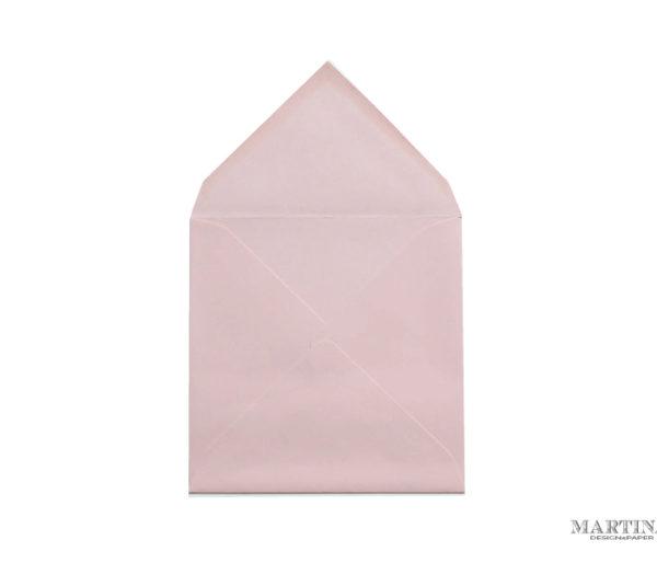 Sobre cuadrado para invitaciones de boda rosa palo