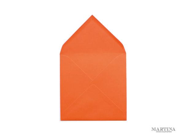 Sobre cuadrado para invitaciones de boda naranja