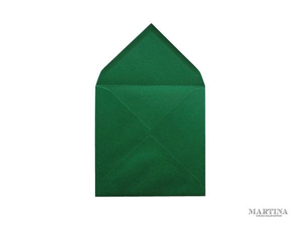 sobre cuadrado para invitaciones de boda verde