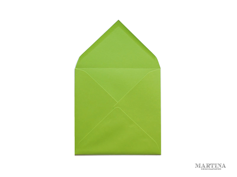 sobre cuadrado para invitaciones de boda verde lima