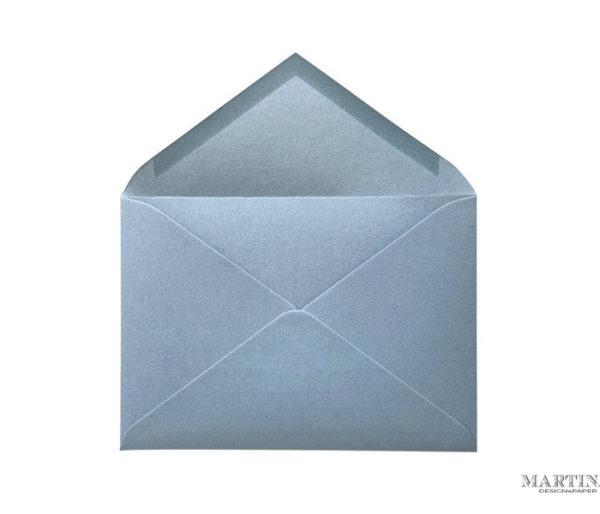 Sobre para invitacion de boda azul elegante